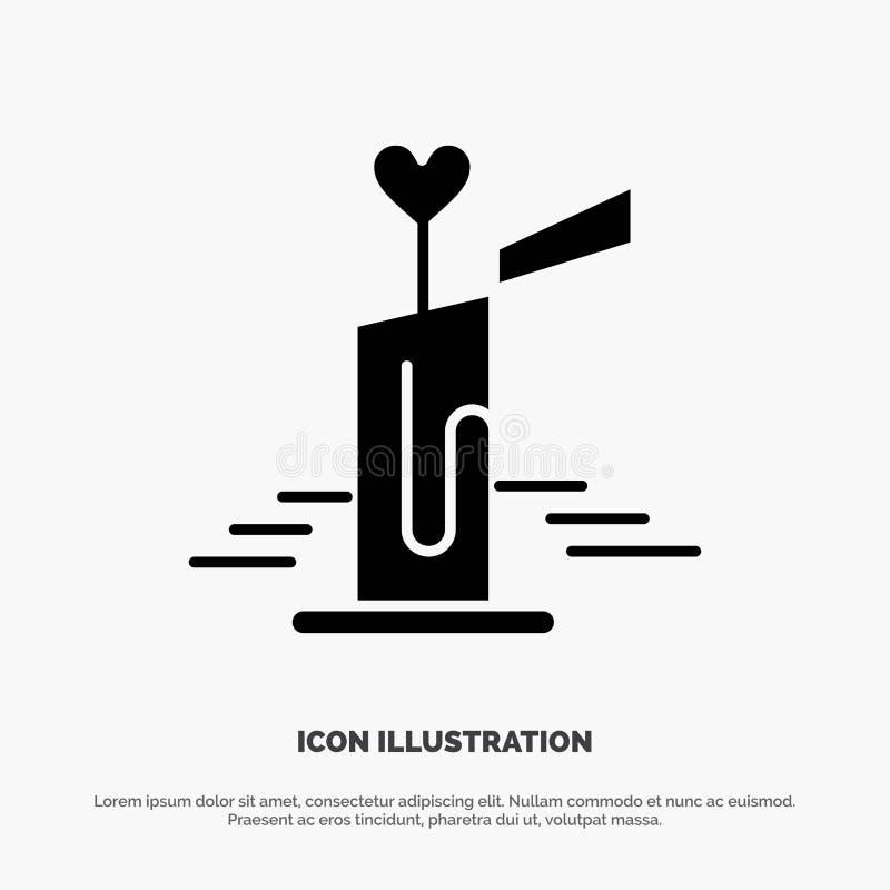 Stearinljus förälskelse, bröllop, för skårasymbol för hjärta fast vektor stock illustrationer