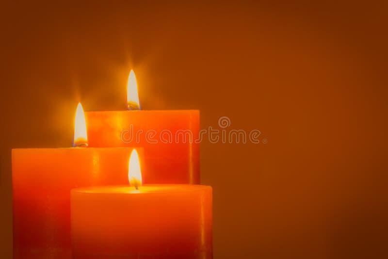 Stearinljus för jul arkivbild