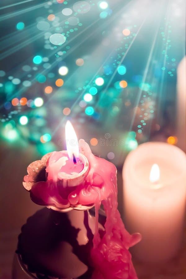 stearinljus Jul arkivfoto