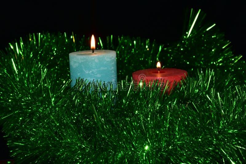 Stearinljus och tändare, royaltyfri foto