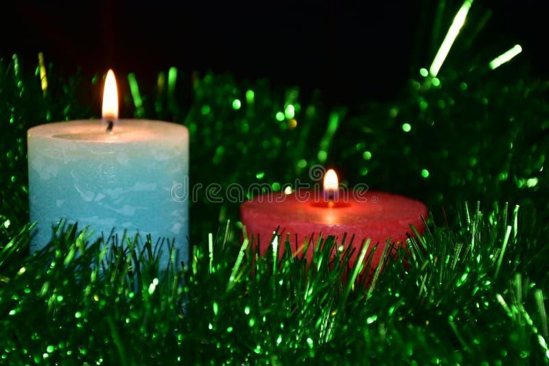 Stearinljus och tändare, arkivfoto