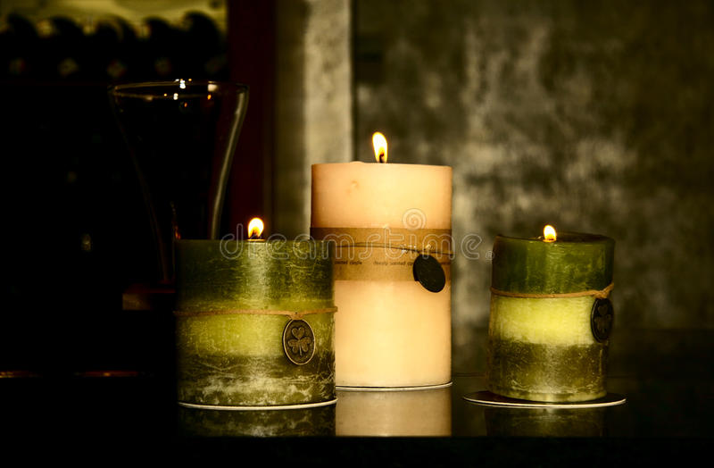 stearinljus tre royaltyfri foto