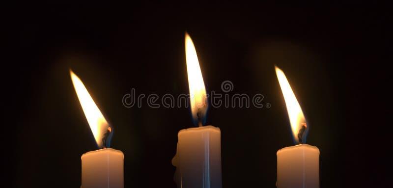 stearinljus tre fotografering för bildbyråer