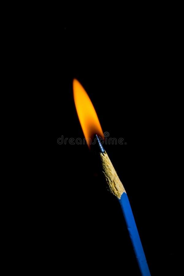 Stearinljusblyertspenna royaltyfri foto