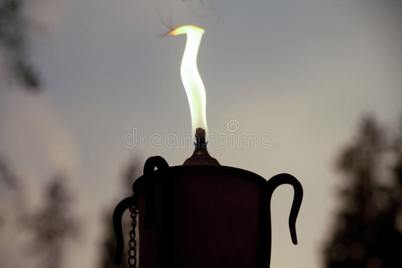 Stearinljusfacklaflamma royaltyfria bilder