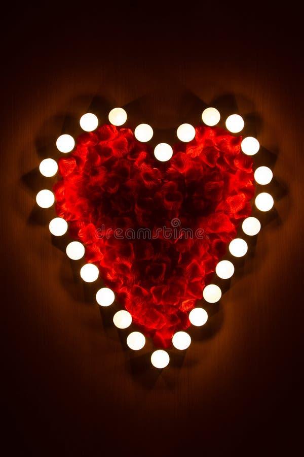 Stearinljushjärta arkivbild