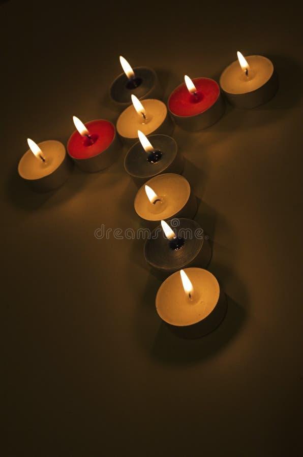stearinljuskors royaltyfri fotografi