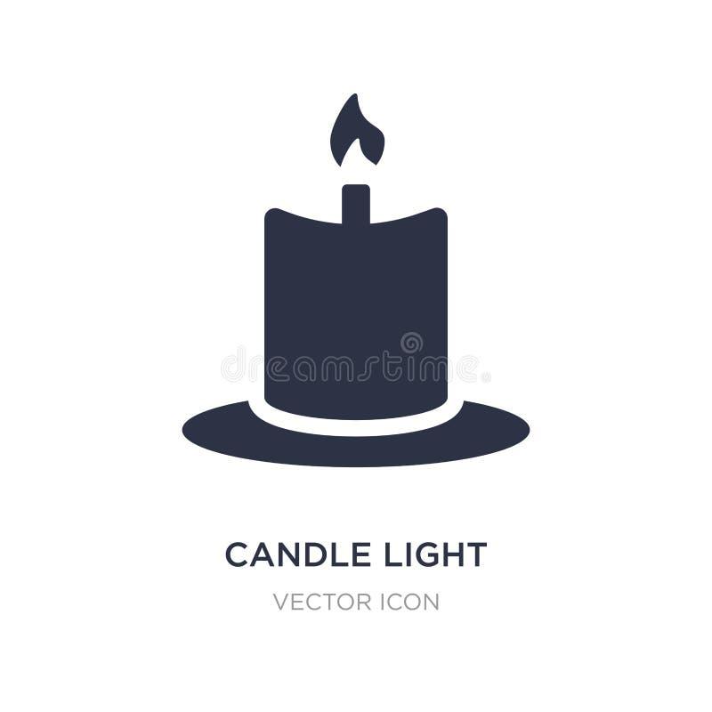 stearinljusljussymbol på vit bakgrund Enkel beståndsdelillustration från skönhetbegrepp royaltyfri illustrationer
