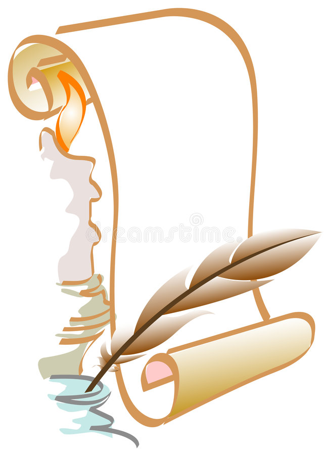 stearinljusquill royaltyfri illustrationer