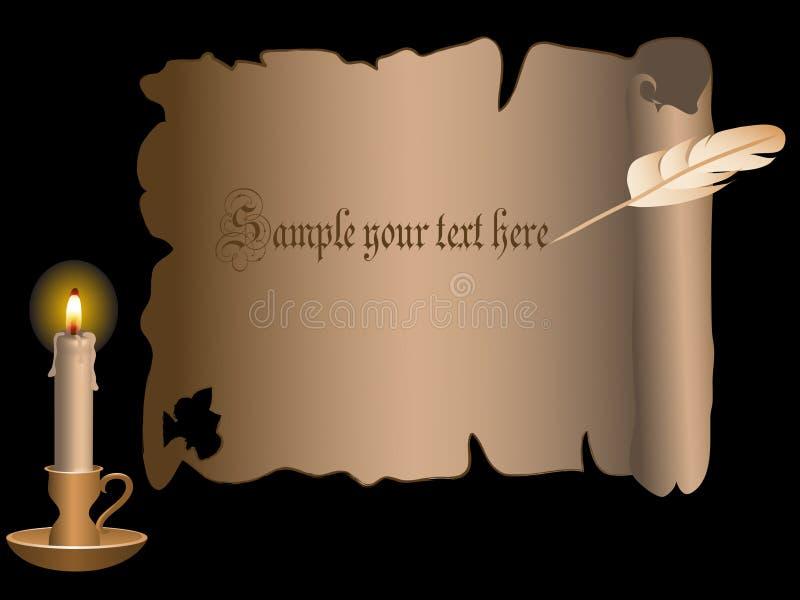 stearinljusscroll stock illustrationer