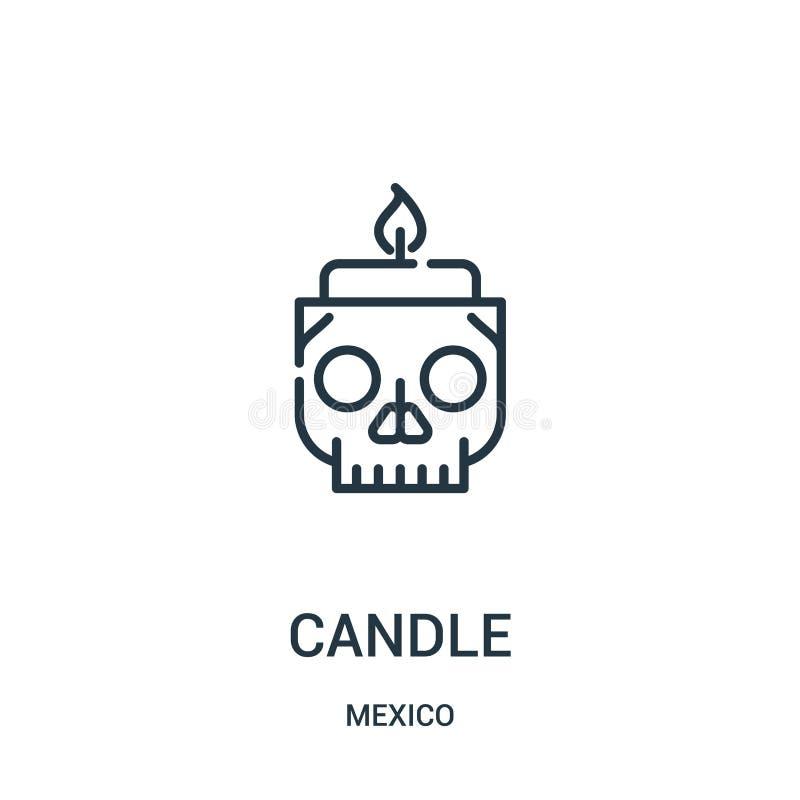 stearinljussymbolsvektor från den Mexiko samlingen Tunn linje illustration för vektor för stearinljusöversiktssymbol vektor illustrationer