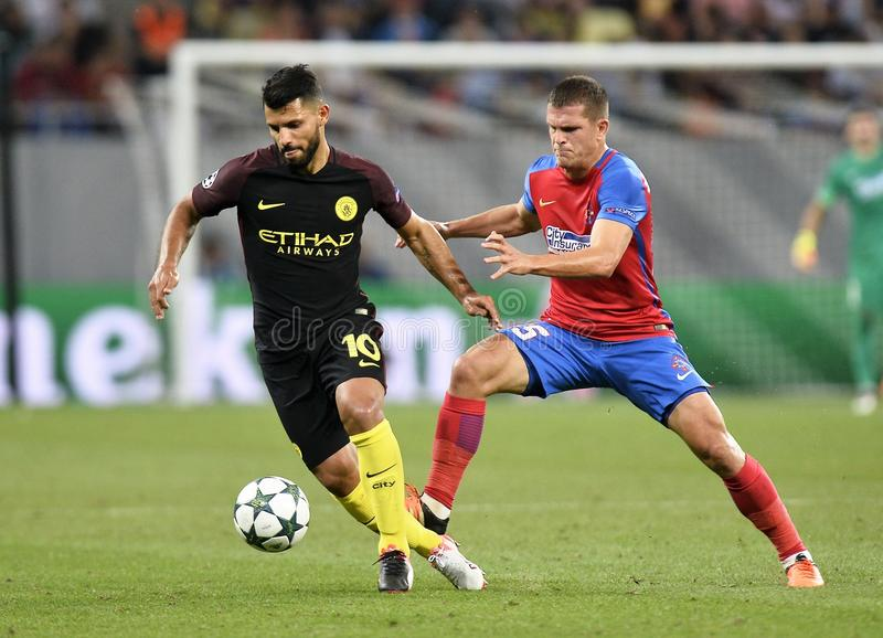 Steaua Bucarest contre Manchester City photo libre de droits