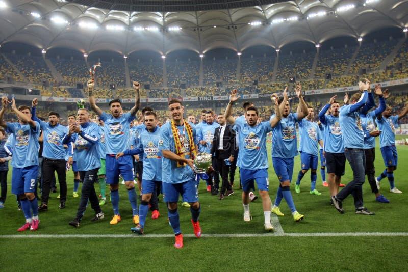 Steaua Bucarest gana la taza de la liga de Rumania fotografía de archivo