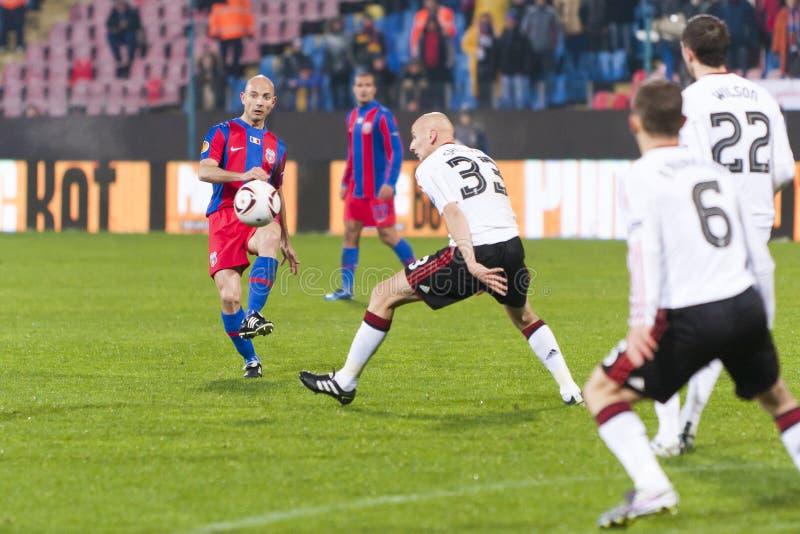 Steaua Bucarest - Liverpool FC (LIGUE d'EUROPA) photos stock