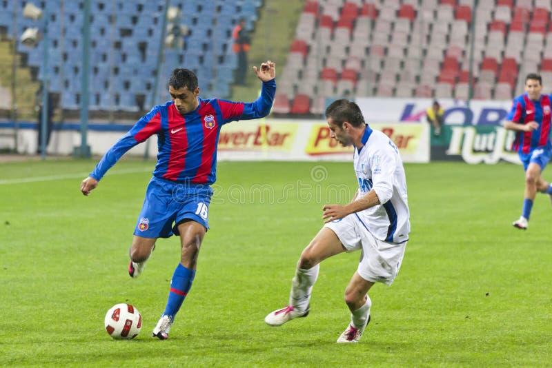 Steaua Bucarest - Pandurii Tg-Jiu photo stock