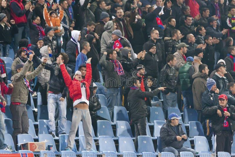Steaua Bucarest - Utrecht (LIGUE d'EUROPA) photographie stock