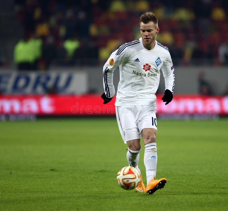 Steaua Bucareste contra Dinamo no estádio de Ghencea Dínamo Kyiv imagem de stock royalty free