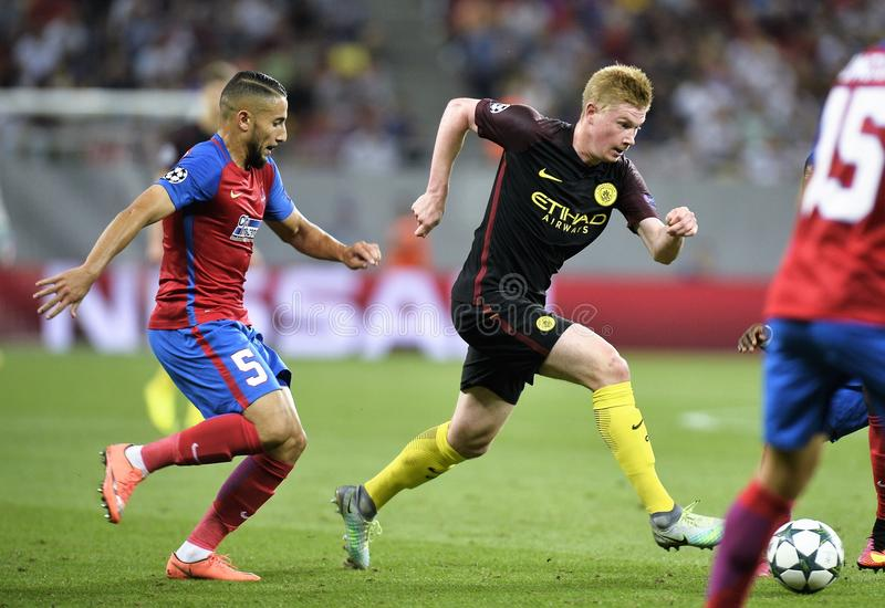 Steaua Bucareste contra Manchester City fotografia de stock