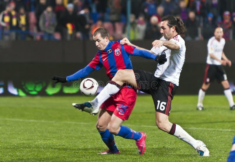 Steaua Bucareste - Liverpool FC (LIGA do EUROPA) fotografia de stock