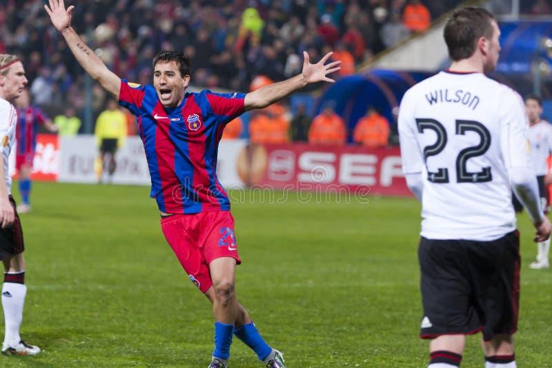 Steaua Bucareste - Liverpool FC (LIGA do EUROPA) imagem de stock royalty free