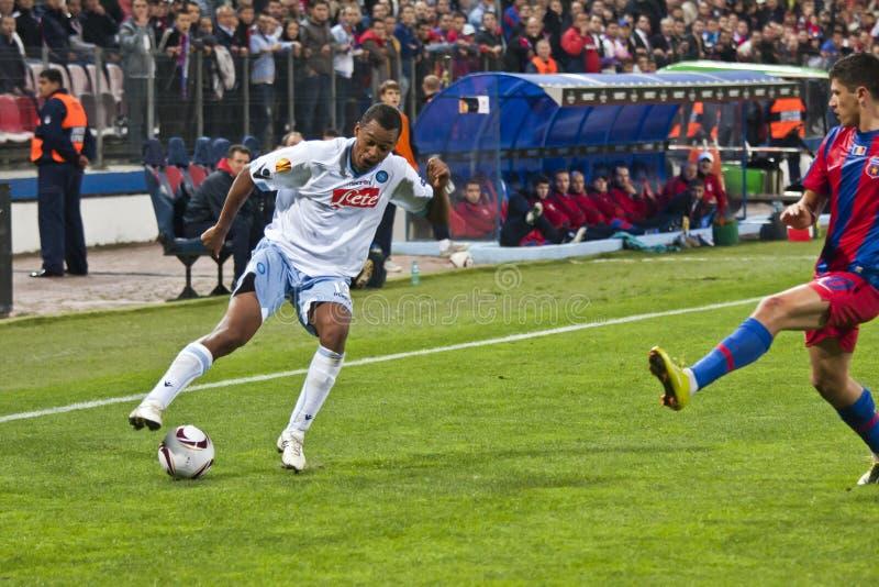 Steaua Bucareste - SSC Napoli foto de stock