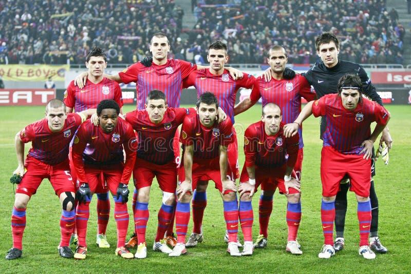 Steaua Bucharest- AEK Larnaca стоковое фото rf
