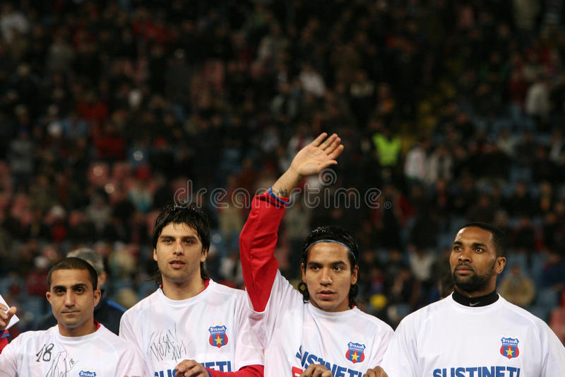 Steaua Bucharest Footballers Editorial Photography