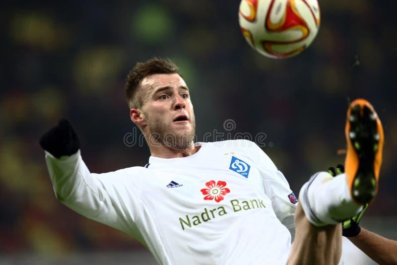 Steaua Bucharest gegen Dinamo auf Ghencea Stadion Dynamo Kyiv stockfoto