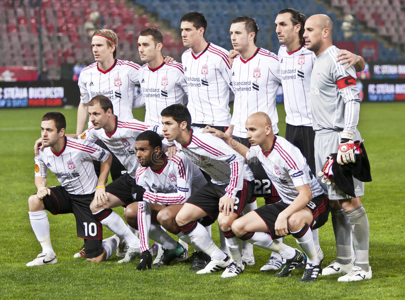 Steaua Bucharest - Liverpool FC (EUROPA-LIGA) lizenzfreie stockfotos