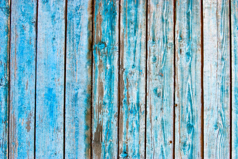 Stecche di legno blu fotografia stock