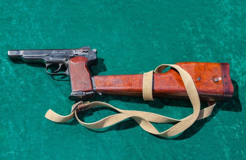 Stechkin den automatiska pistolen eller APSNA arkivfoton