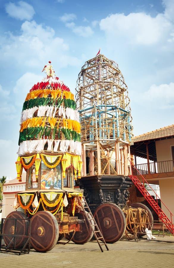 Stechpalme Chariot im indischen Tempel lizenzfreies stockfoto