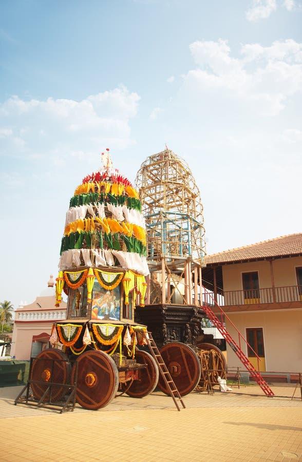 Stechpalme Chariot im indischen Tempel lizenzfreie stockbilder