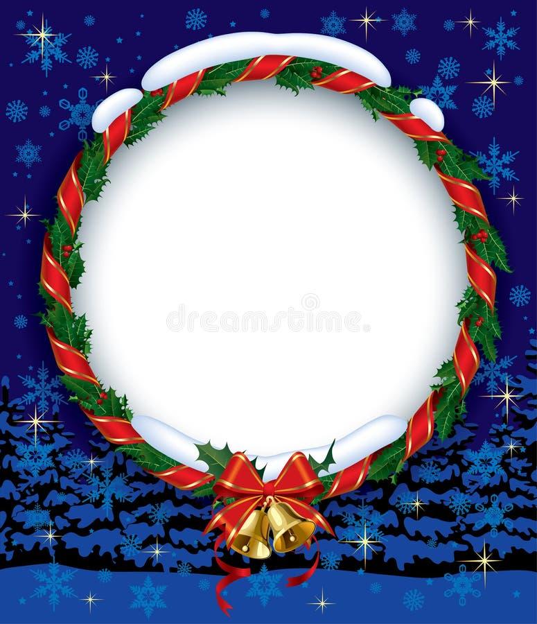 Stechpalme Wreath mit Glocken stock abbildung
