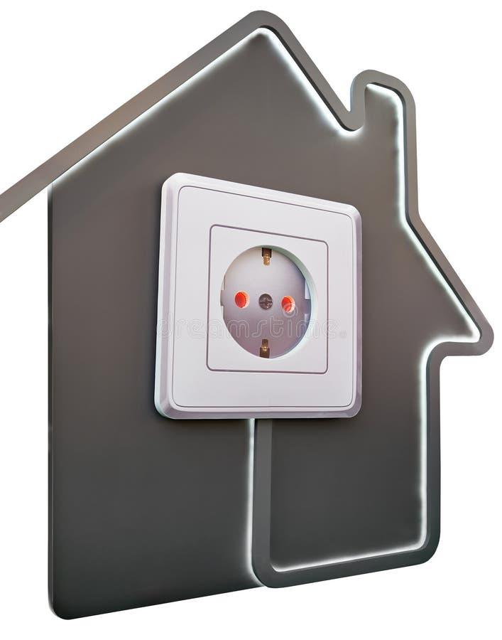 Steckdose Im Haus Als Symbol Des Komforts Stockbild - Bild von ...