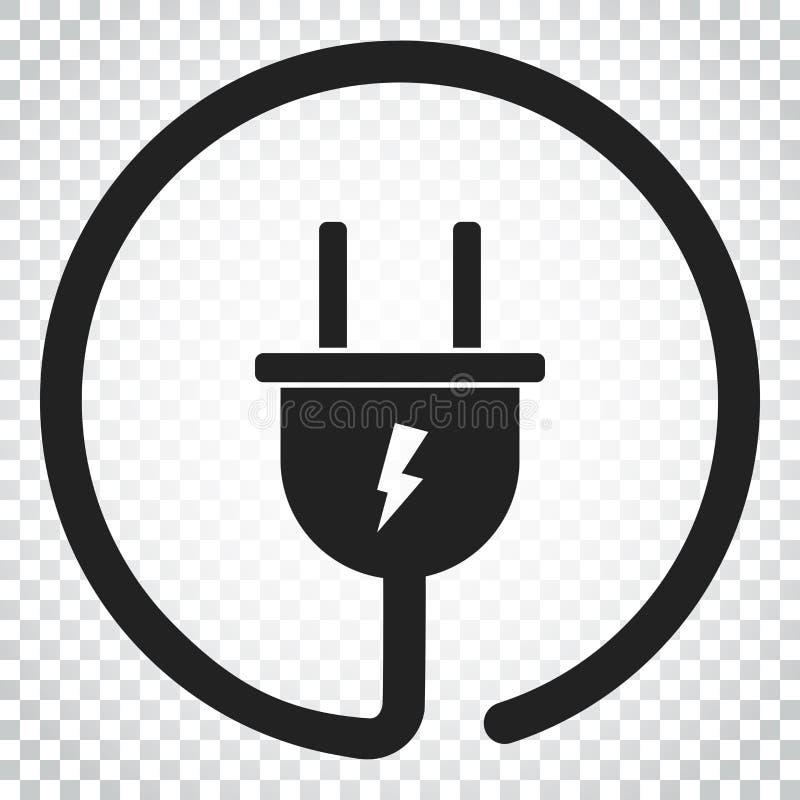 Download Steckervektorikone Flache Illustration Des EnergieDrahtseils Einfacher Bus Vektor Abbildung - Illustration von einfach, einfaßung: 96936016