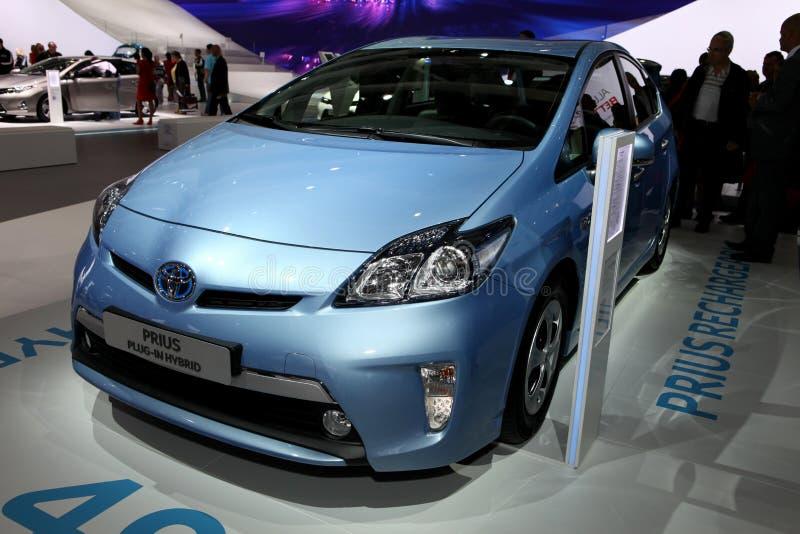 Steckverbindung-Mischling Toyota-Prius stockfotos