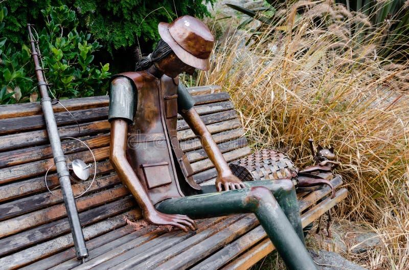 Stedelijk beeldhouwwerk in het Park van Valentino ` s, Turijn Italië royalty-vrije stock fotografie