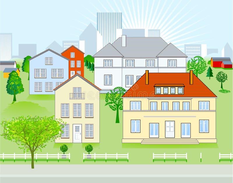 Stedelijk district vector illustratie