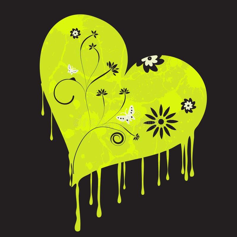 Stedelijk grungehart royalty-vrije illustratie