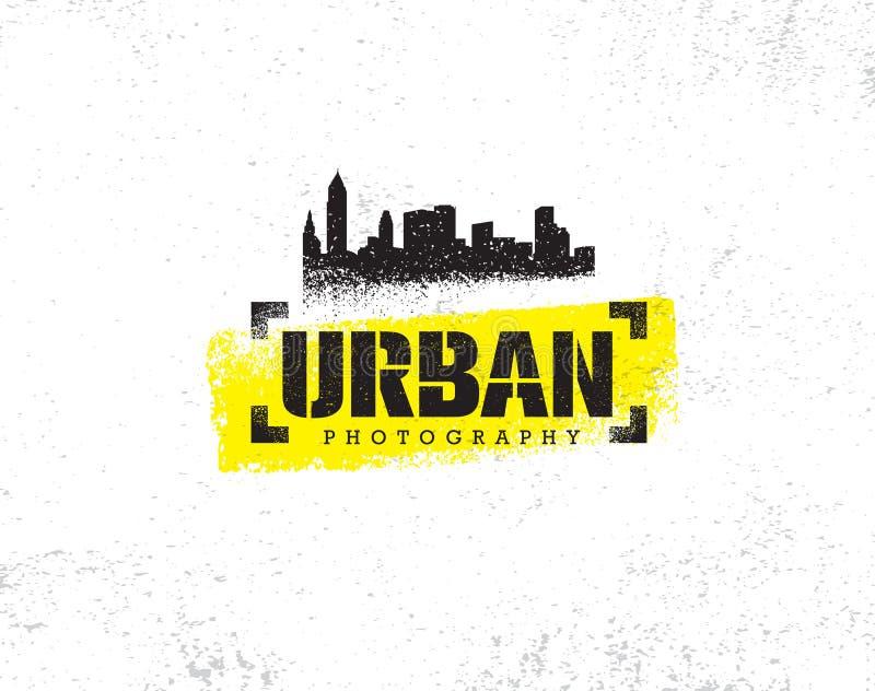 Stedelijk Hipster-Ruw Rustiek Vector het Ontwerpelement van de Fotografiewedstrijd Creatieve Illustratie op Grunge-Achtergrond stock illustratie