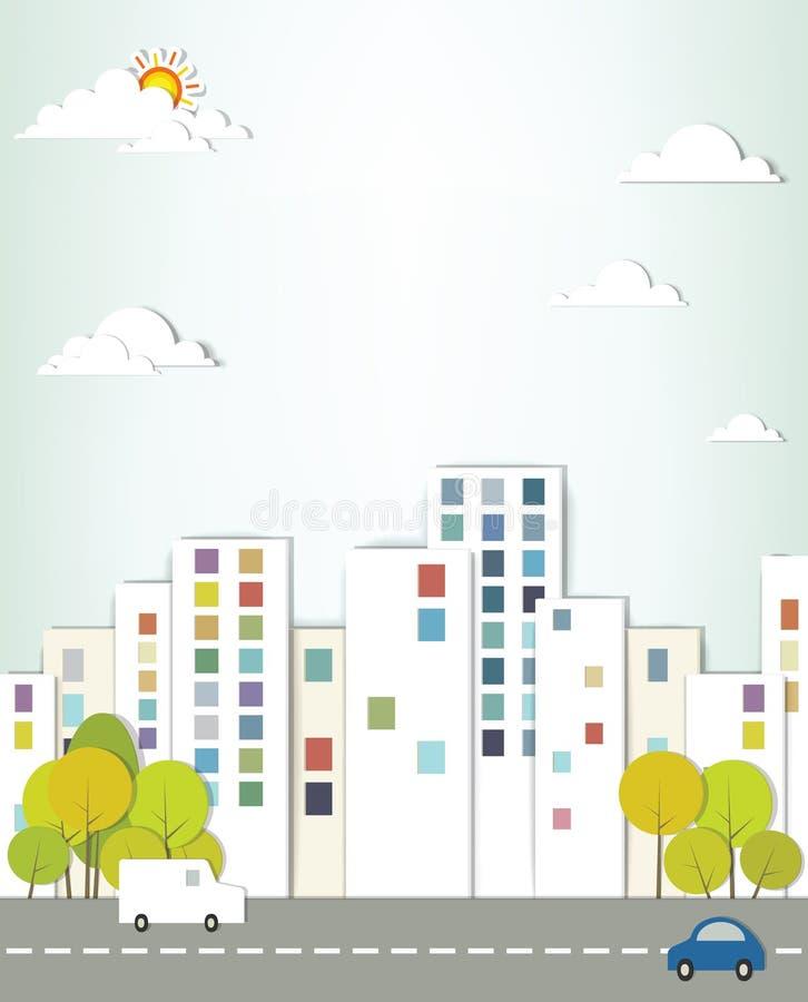 Stedelijk landschap. vector illustratie