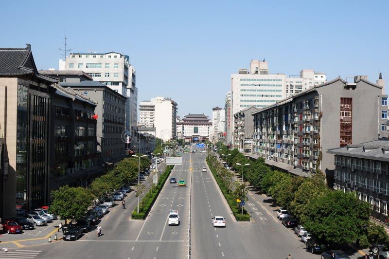 Stedelijk landschap van Xian, China royalty-vrije stock fotografie