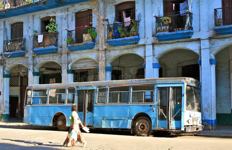Stedelijk vervoer, Havana, Cuba royalty-vrije stock afbeeldingen