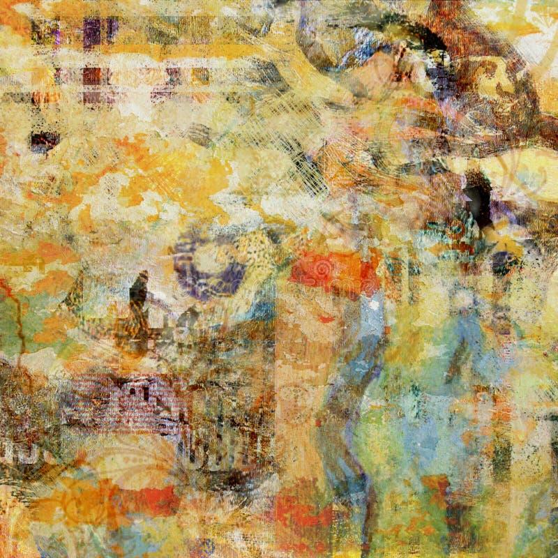 Stedelijke achtergrond stock illustratie