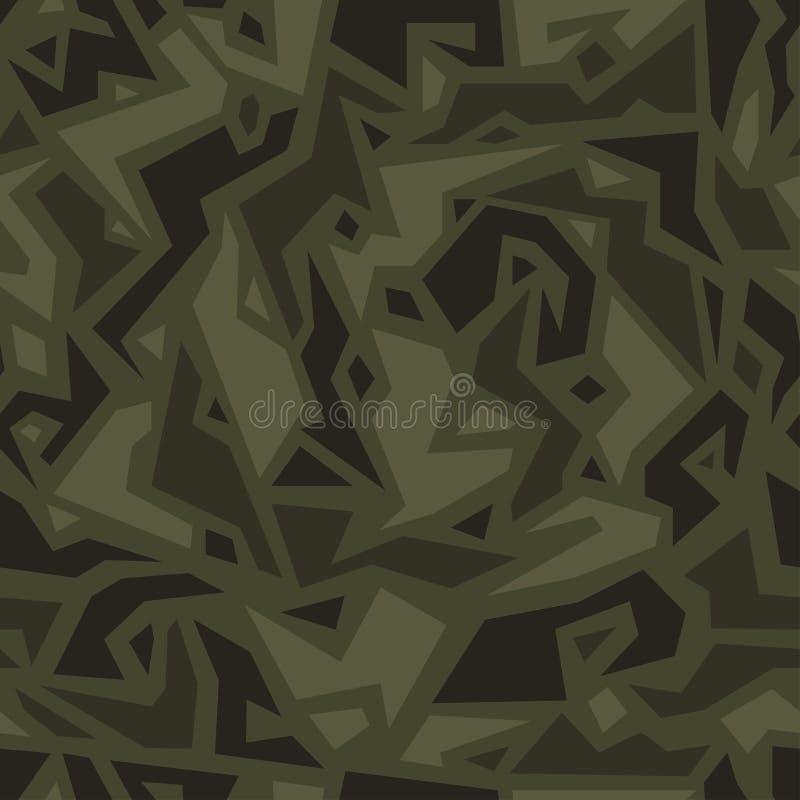 Stedelijke camouflage in etnische stijl, naadloze textuur Afrikaans camopatroon royalty-vrije illustratie