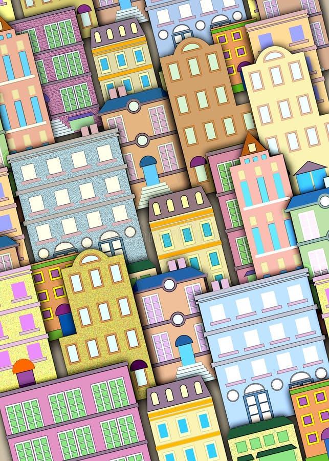 Stedelijke de bouwachtergrond royalty-vrije illustratie