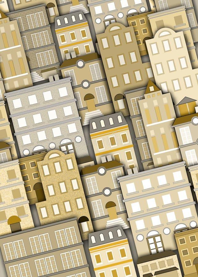 Stedelijke de bouwachtergrond stock illustratie