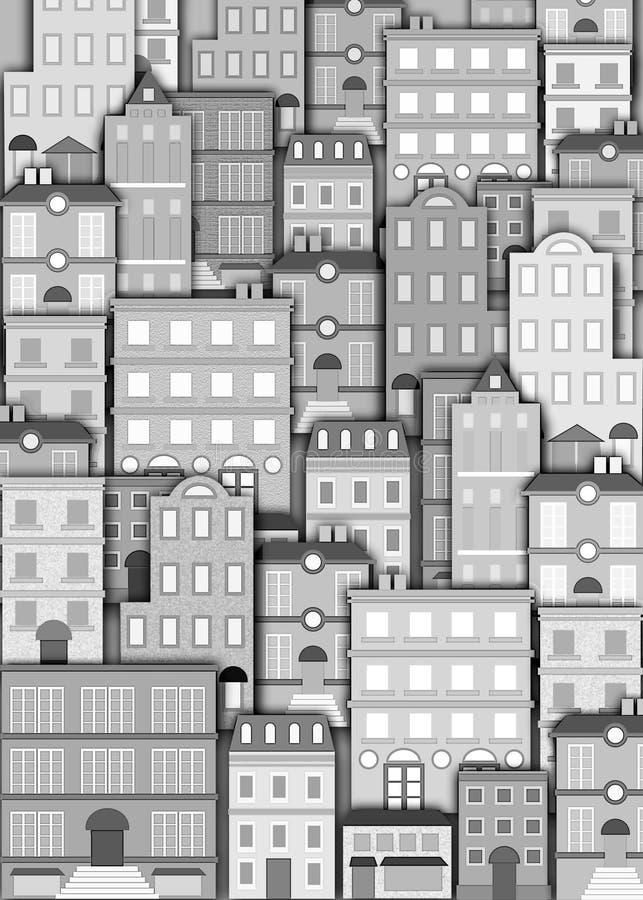 Stedelijke de bouwachtergrond vector illustratie