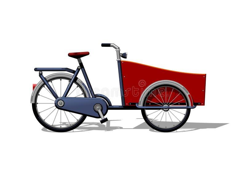 Stedelijke de fiets vlakke vector van de familielading Stedelijke ladingsfiets, leasure en sportvervoer voor familie Fietsillustr royalty-vrije illustratie